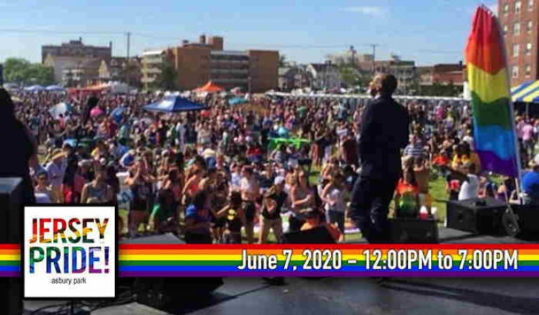 Jersey Pride 2020: 29th Annual Statewide LGBTQ Pride Festival At Bradley Park In Asbury Park NJ